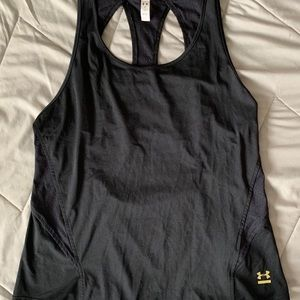 Women's UA tank with cutout back and mesh detail